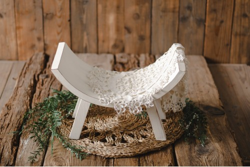 CURVED BENCH - WHITE