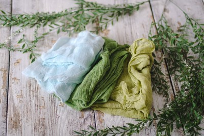 CHEESECLOTH WRAP GREEN TONES