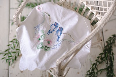 EMBROIDERED BIRDS LAYER