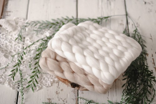 COUVERTURE - WEAVY MARSHMALLOW